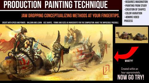 Advanced Digital Art Production Painting Technique