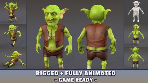 Goblin Rigged + Animated for Games