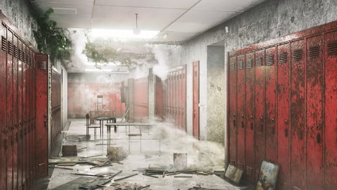 School Corridor Abandoned
