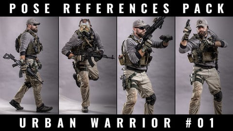 POSE REFERENCE PACK - URBAN WARRIOR / MERCENARY #01