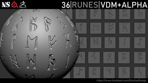 Gothic Runes VDM Brush +Alpha