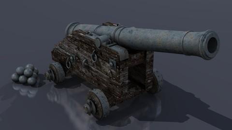 XVIII Century naval cannon