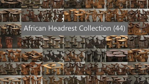44 African Neckrests