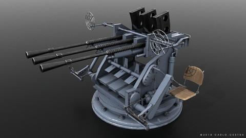 Japanese Type 96 25mm triple gun