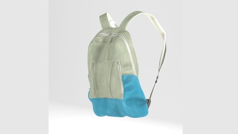 BackPack, Bag (PBR, Lowpoly, MAX, FBX)
