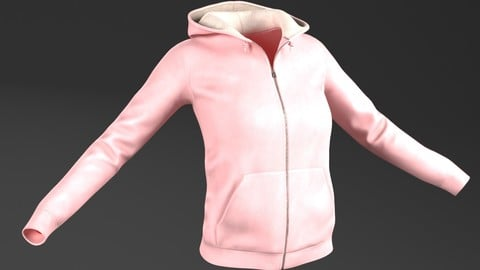 Hoody (For Woman, PBR, Lowpoly, MAX, FBX)