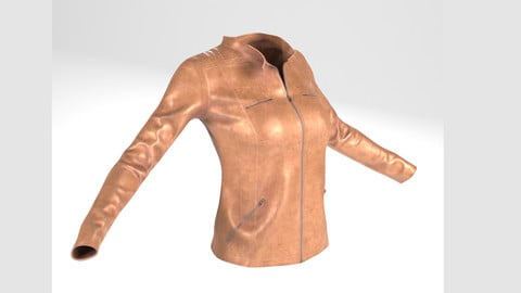Jacket(For Woman, PBR, Lowpoly, Max, FBX)