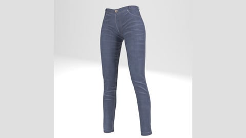 Jean, Pants (For Woman, PBR, Lowpoly, Max, FBX)