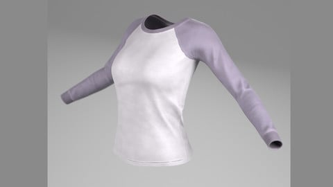 T-Shirts ( For Woman, PBR, Lowpoly, Max, FBX)