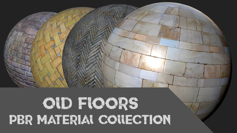 Old Floors PBR Materials Collection