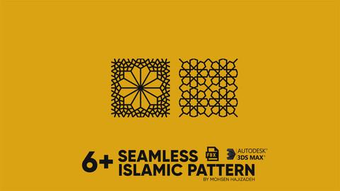 6+ Seamless Islamic patterns-3D Model