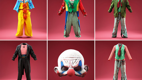 5 Horror Clown Outfits and Mask