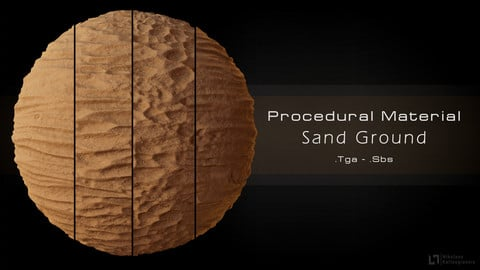 Procedural Sand Material - 4 Variations!
