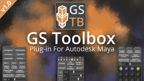 GS Toolbox v1.0 - Maya Modeling Plug-in. Interactive Creasing/Beveling, Fast Instancing and more.