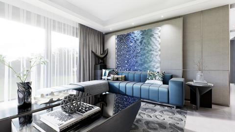 Living Room Interior walk through VR in UE4 (unreal engine 4.23)