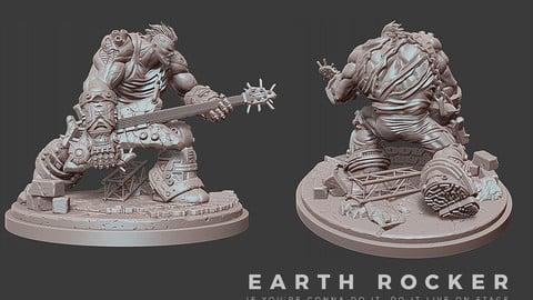 Earth Rocker - 3D Print (STL, OBJ)