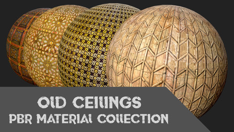 Old Ceilings PBR Material Collection