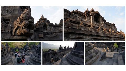 Borobudur - Southeast Asian Temple Photo Pack
