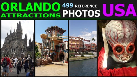 Orlando USA Universal Studios Park - Reference Pack 1