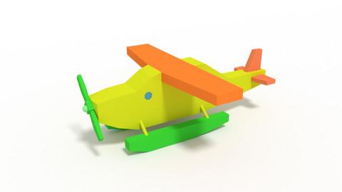 Low Poly Cartoon Hydroplane Toy