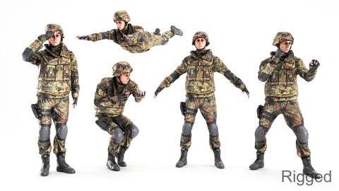 Animated soldier in Bundeswehr military uniform 12
