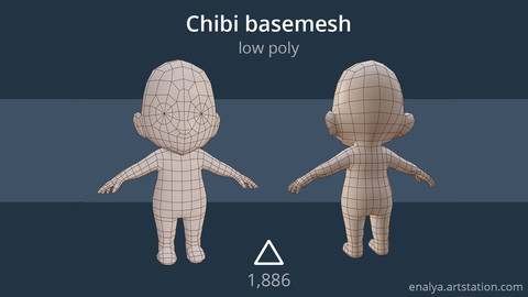 Chibi basemesh (low poly)