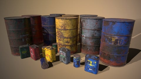 Old/Rust Barrel and Tin Oil