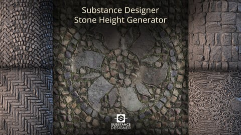 Substance Designer - Stone Features Generator
