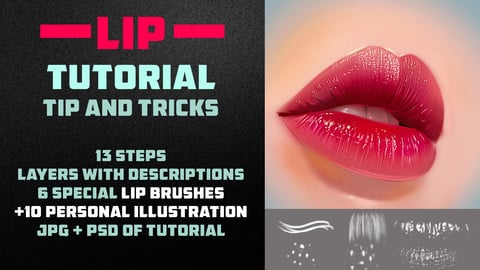 LIP TUTORIAL 2 / 6 BRUSHES / TIP AND TRICKS | PHOTOSHOP