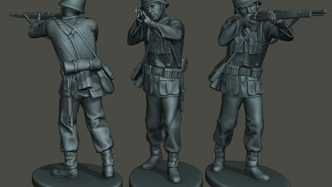 German soldier ww2 Shoot Stand G1