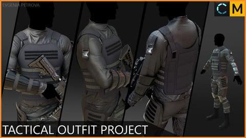 Tactical outfit. Clo3d(Marvelous designer) project