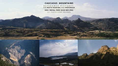 500 + Caucasus  Mountains REFERENCE  PICTURES/ TEXTURES  For  MATTE PAINTING and PHOTOBASH