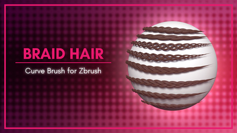 [IMM Brush] Braid Hair Curve Brush for Zbrush 2020
