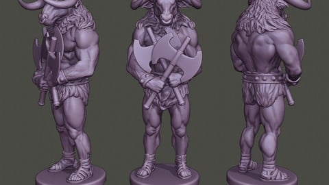 Minotaur Warrior Guard two Axes