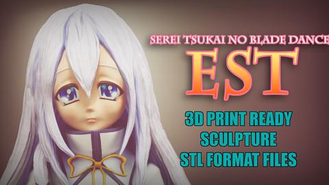 Est 3D Printable Figure  Serei Tsukai No Blade Dance
