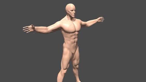 Warrior man base mesh
