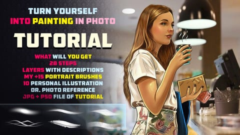 PAINT YOURSELF TUTORIAL / TIP AND TRICKS / +15 PORTRAIT BRUSHES  /  | PHOTOSHOP