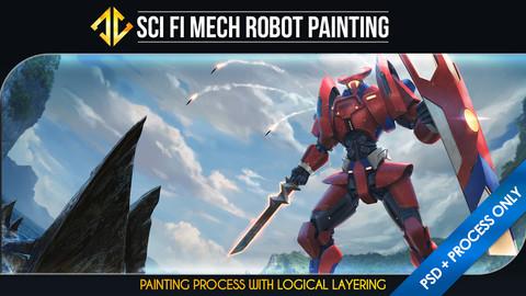 Sci Fi Mech Robot Painting