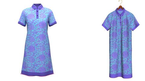 3D Low Poly Shirt Dress