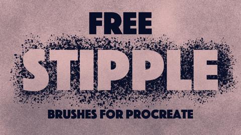 Free Stippling Procreate Brushes