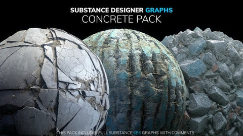 Substance Designer Graphs | Concrete Pack