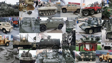 Russian Army Expo 2017. Tanks, vehicles, weapon.