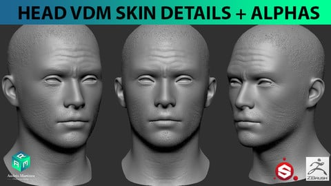 Head VDM skin deatails brushes + alphas