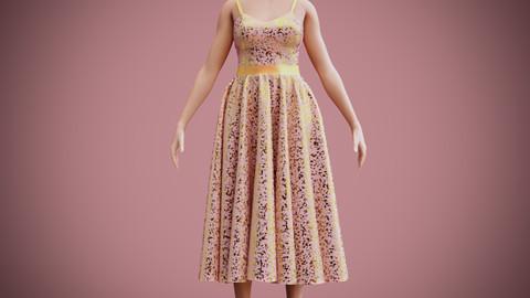 SEQUIN DRESS 3D model