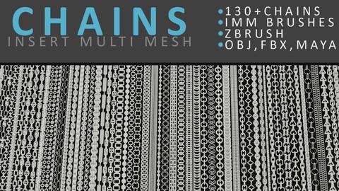 Zbrush Chains Brush Set