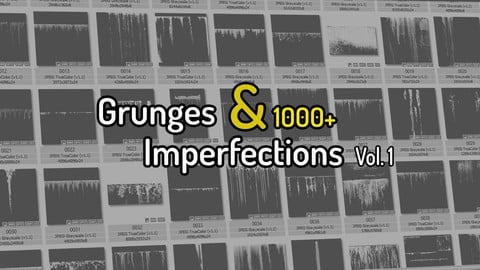 1000 Grunges & Imperfection Texture Pack