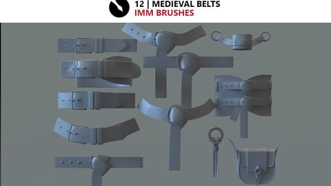 12 | medieval Belts iMM brushes