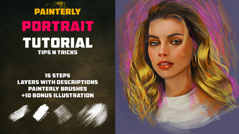 PAINTERLY PORTRAIT TUTORIAL / TIP AND TRICKS
