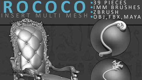 Zbrush IMM ROCOCO Brush Set