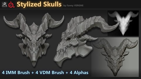 Fantasy Stylized Skulls